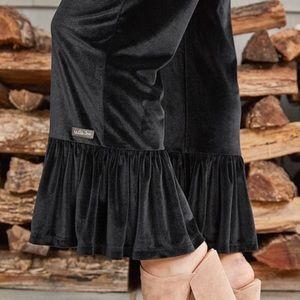 NWT Matilda Jane Big Ruffles Velvet Pants Black S